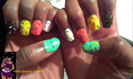 pre spring nail art challenge day 10 ice cream