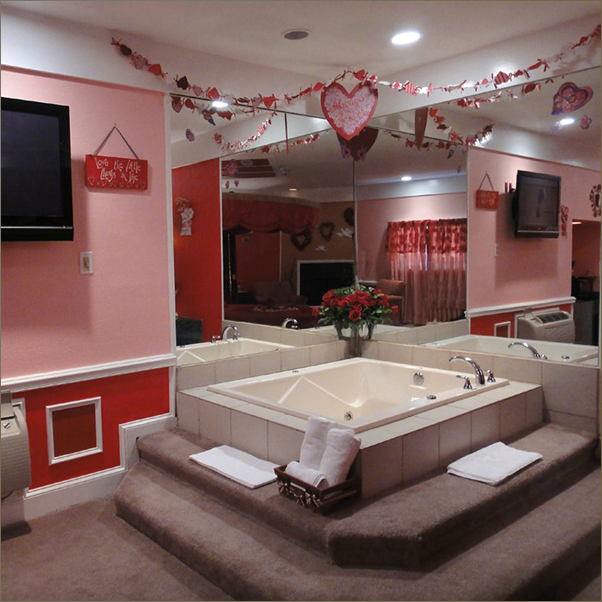 Red romantic suite nails done by a blimbo - Inn of the dove swimming pool suite ...