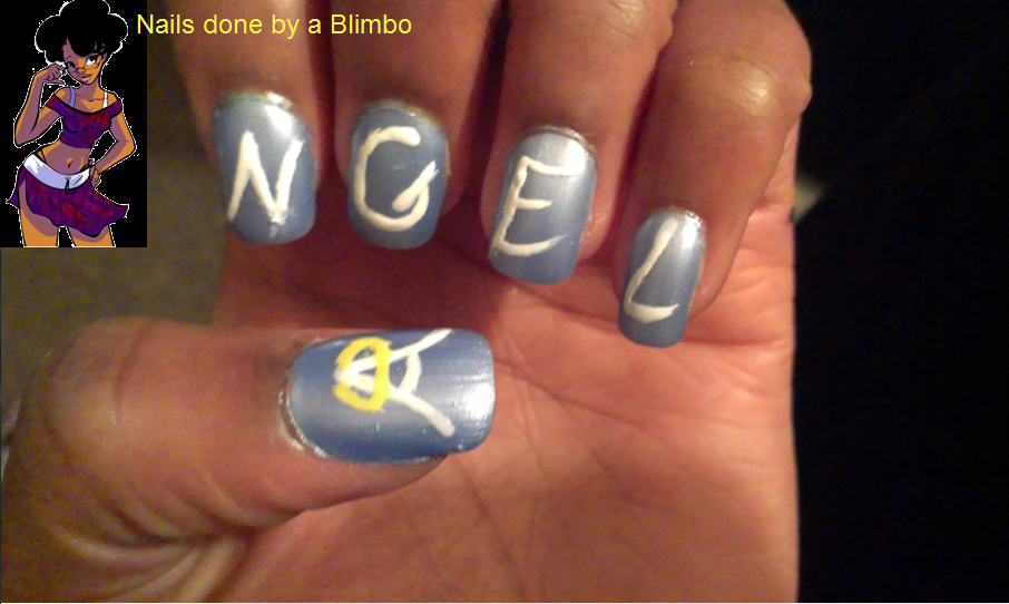 Angeldevil nails done by a blimbo devil nail design angel prinsesfo Choice Image
