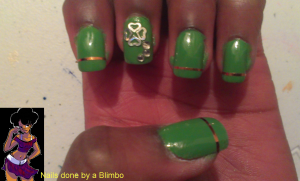 st. patty's day mani