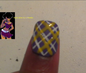 April 30 day nail art challenge day 10 Plaid (thumb)
