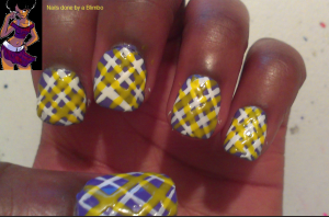 April 30 day nail art challenge day 10 Plaid