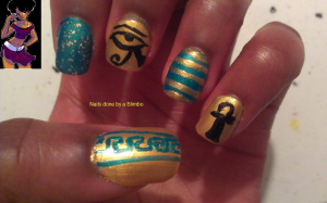 april 30 day nail art challenge day 16  tribal