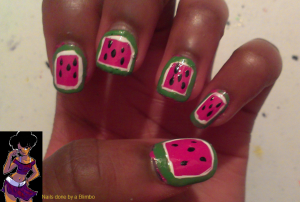 april 30 day nail art challenge day 20 border mani