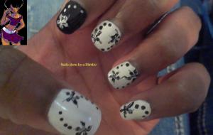 april 30 day nail art challenge day 21 flora