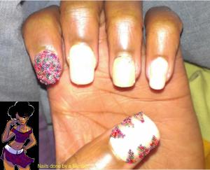 april 30 day nail art challenge day 23 caviar mani w flash