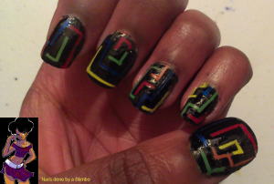 april 30 day nail art challenge day 24 tape mani