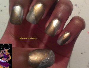april 30 day nail art challenge day 25 metallic