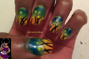 april 30 day nail art challenge day 26 gradient