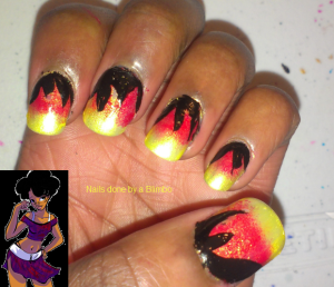 april 30 day nail art challenge day 28 inspired a song