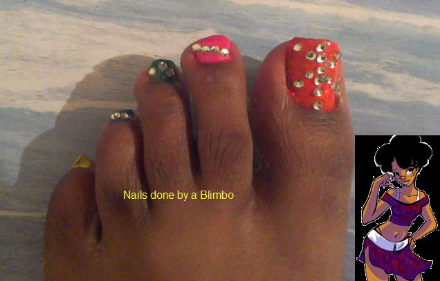 Ebony pretty toes