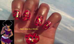 Red week cheetah print