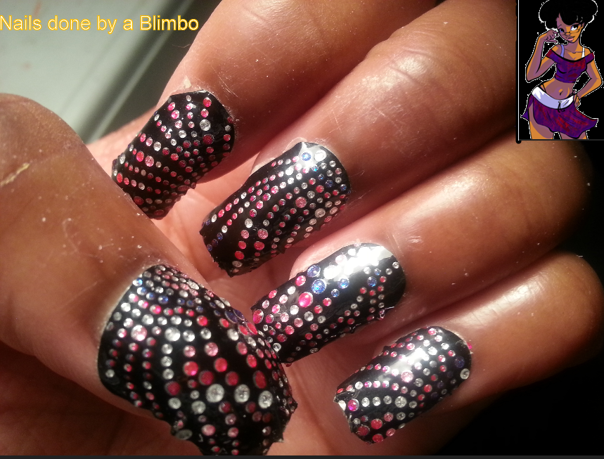Nail Art Design Strips Nails Done By A Blimbo