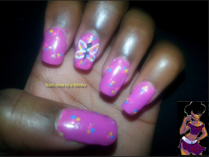 omd nail art challenge Day 12 dots