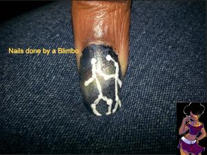omd nail art challenge Day 13 stars-gemini