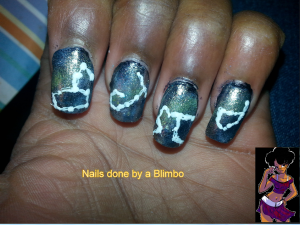 omd nail art challenge Day 13 stars2