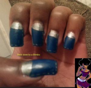 Omd nail art challenge Day 17 ruffian