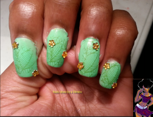 omd nail art challenge Day 21 stamping
