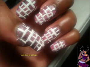omd nail art challenge Day 24 inspired by a tutorial