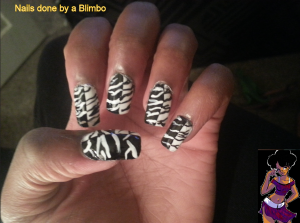 31 dc 2013 black and white nails