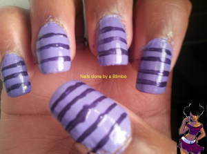 31dc2012-Violet nails
