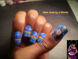 31dc2013 rainbow nails