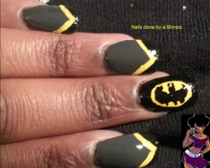 batman nail art 2