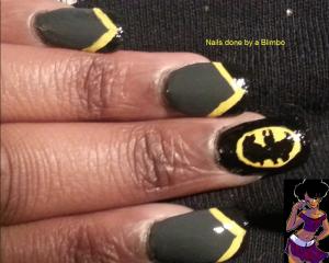 batman nail art 2