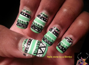 aztec tribal nails