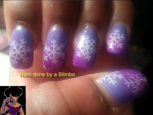 snowflake on pink purple gradient