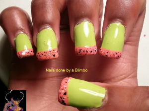 tropical french mani