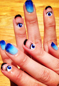 elle magazine surrealism nail art