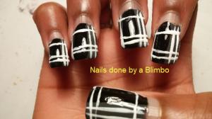 Nail-art-a-go-go monochrome