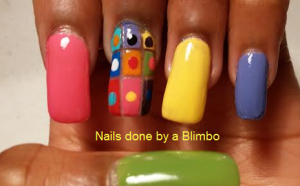 Nail-art-a-go-go round and square