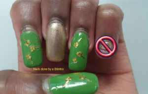 st. patricks day mani