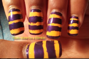 Orange and purple stripes