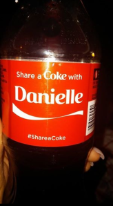 coke bottle with danielle on it