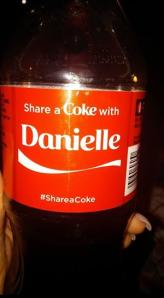 coke bottle with danielle on it