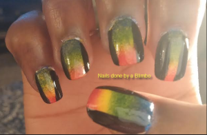OMD july nail art challenge Day 11- rainbow