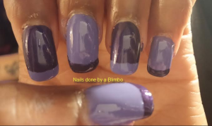 Omd July nail art challenge Day 14-funky french