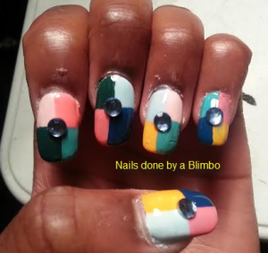 OMD july nail art challenge Day 15 abstract