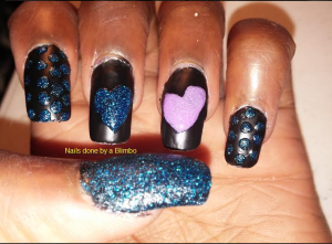 OMD july nail art challenge Day 8 shimmer with flash