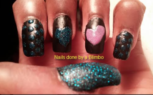 OMD july nail art challenge Day 8 shimmer