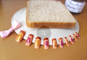 peanut butter and jelly nails