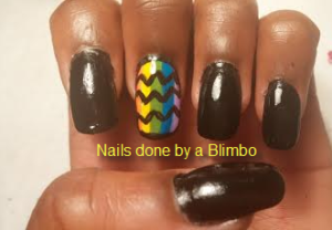 OMD july nail art challenge Day 20- Chevron