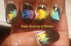 OMd july nail art challenge day 22- Feathers
