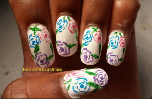 OMD july nail art challenge day 25- roses