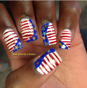 omd july nail art challenge Day 29 national pride