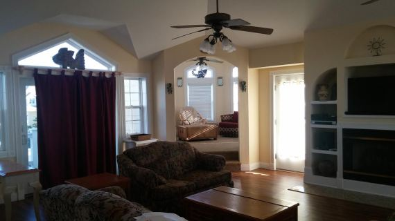 The Beach House- living room, reading nook 2