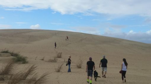 vacation climbing the sand dunes